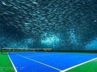 طراحی زمین تنیس زیر آب های خلیج فارس