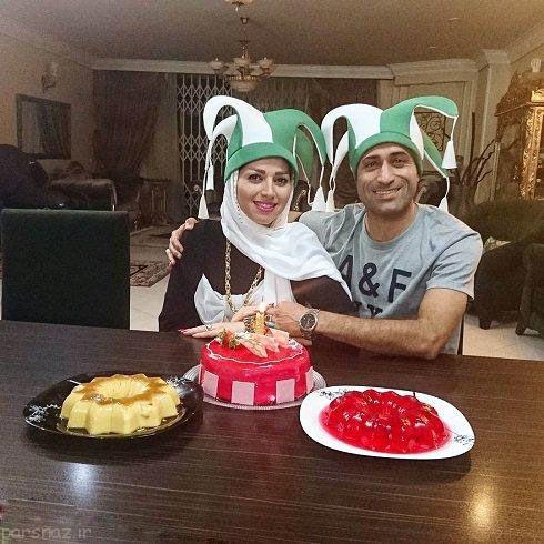 تصویری از فوتبالیست مشهور در جشن تولد همسرش
