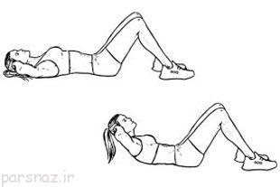 تمرینات شش تکه کردن شکم برای خانم ها