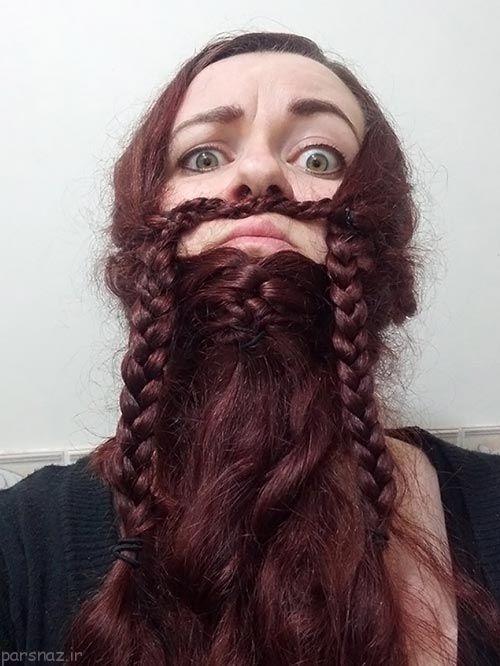 هنر و خلاقیت دختران و بافتن موهایشان