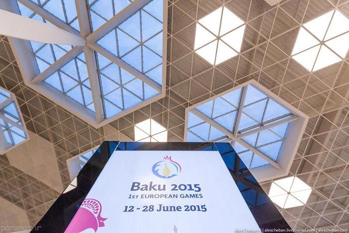 یکی از زیباترین فرودگاه های جهان در باکو آذربایجان