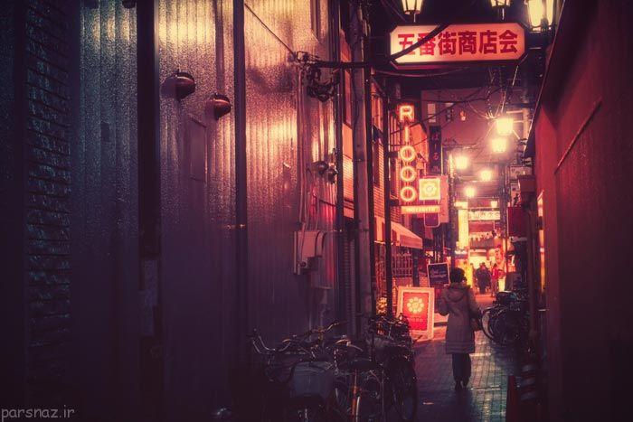 نمای جالب شب های شهر توکیو ژاپن
