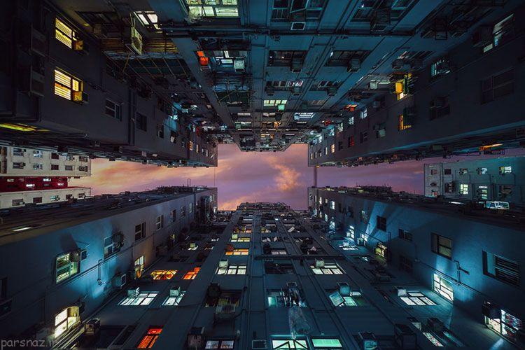 آسمان خراش های هنگ کنگ و هنرمند استرالیایی