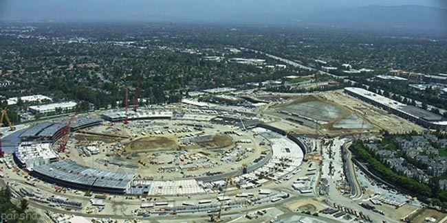 طراحی ساختمان جدید اپل با طراحی همانند آیفون