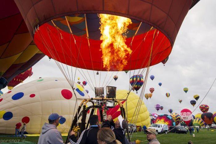 مجموعه تصاویری از گردهمایی بالون های بزرگ و رنگی