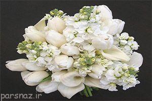 رمانتیک ترین مدل ها از دسته گل عروس