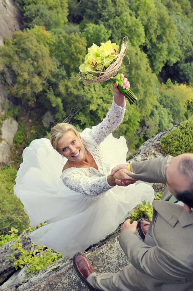 عکس های دیدنی زوج های جوان بدون ترس از ارتفاع زیاد