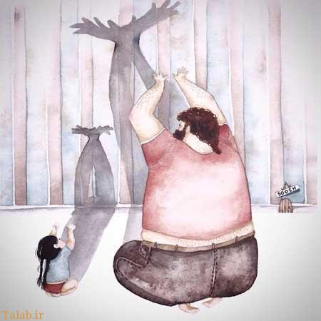 عکسهای احساسی درباره عشق بین پدر و دختر