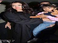 بازیگر هندی آیشواریا رای به همراه دخترش در استرالیا