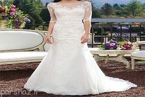 طرح های جدید لباس آستین دار عروس