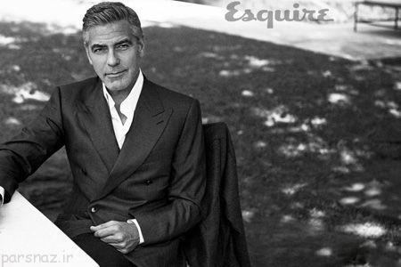 تصاویر جذاب جرج کلونی روی مجله اسکوئر