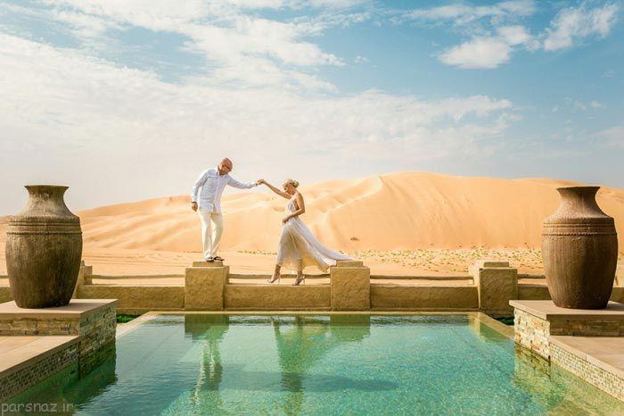 تصاویری عاشقانه عروسی در مناظر فوق العاده