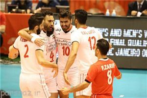 پیروزی تیم ملی والیبال ایران در اولین بازی