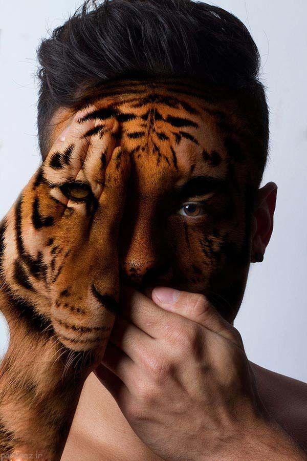 تصاویری از پرتره ترکیب انسان با چهره های حیوانات