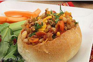 غذاهای خوشمزه و زیبا با نان همبرگر