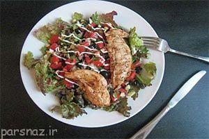 یک شام خوشمزه با مرغ و سالسای سبز