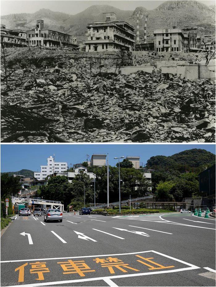 عکس های قبل و بعد از بمباران هسته ای ژاپن