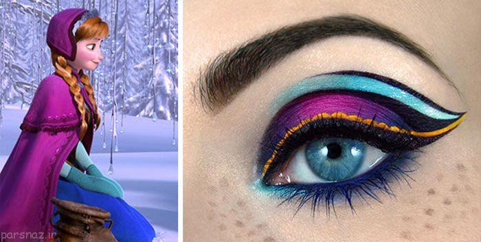 مدل های هنری و زیبا در آرایش سایه چشم