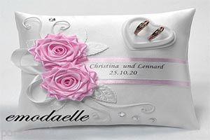 طرح های زیبا از تزیین کوسن برای حلقه ازدواج