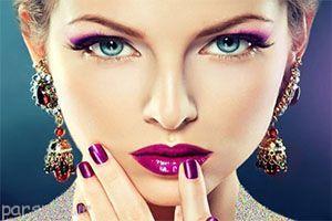 مدل آرایش چشم و لب زنانه 2016