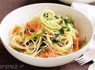 طعم خوشمزه اسپاگتی و سالمون را تجربه کنید