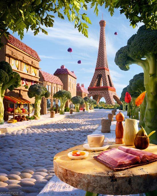 مناظر زیبا و خوشمزه از مکان های مشهور جهان