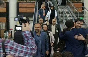 استقبال مردم از اصغر فرهادی، شهاب حسینی و ترانه علیدوستی