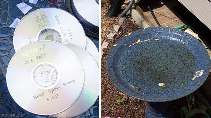 ساخت کاردستی های زیبا با سی دی های قدیمی و سوخته