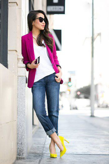 تصاویر شیک از مدل لباس رنگی و گلدار بهارانه