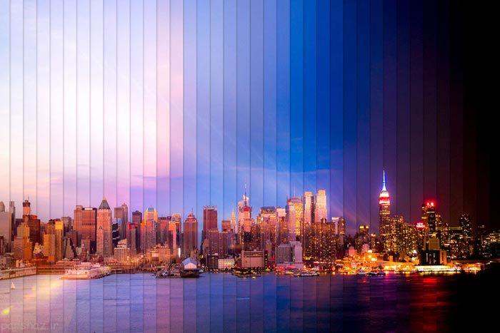 عکس های شگفت انگیز از طلوع و غروب خورشید شهری