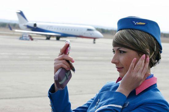ع های مهمانداران زن زیبا در هواپیماهای دنیا