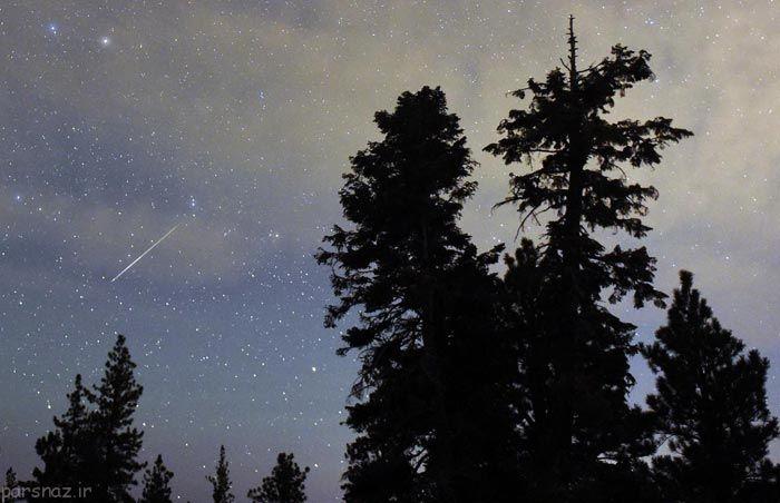 عکس های دیدنی از آسمان با بارش شهاب