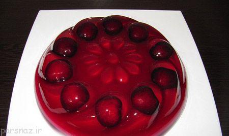 گالری تصاویری از تزیین ژله با میوه