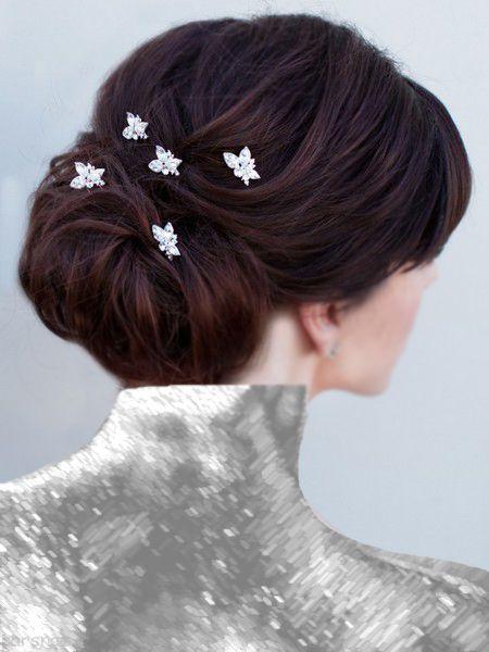 انواع مدل مو عروس بسته شده زیبا