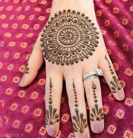 تصاویر جذاب از مدل نقش حنا روی دست