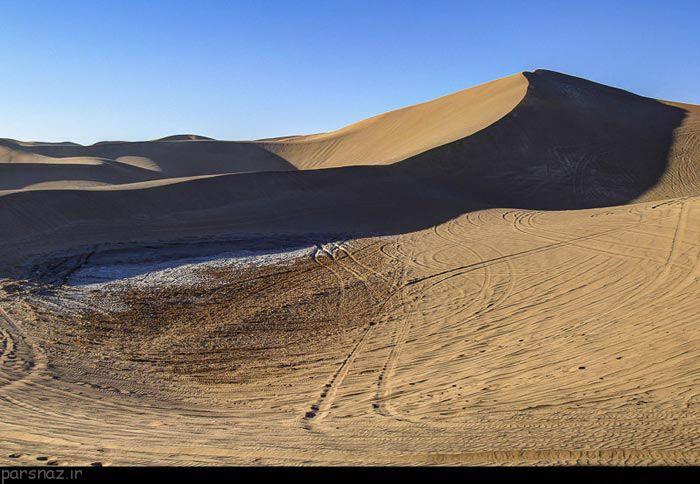 کویرگردی در طبیعت تالاب پساب یزد