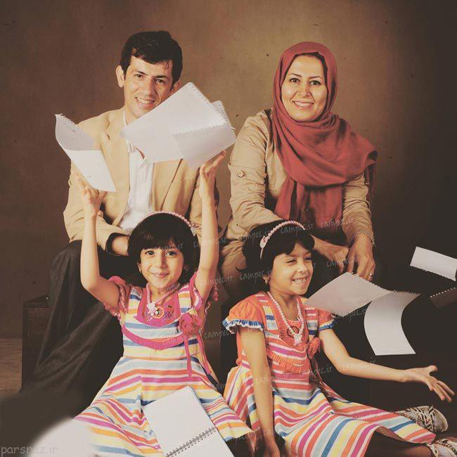 عکس های زیبا از بازیگران در کنار همسران و فرزندان