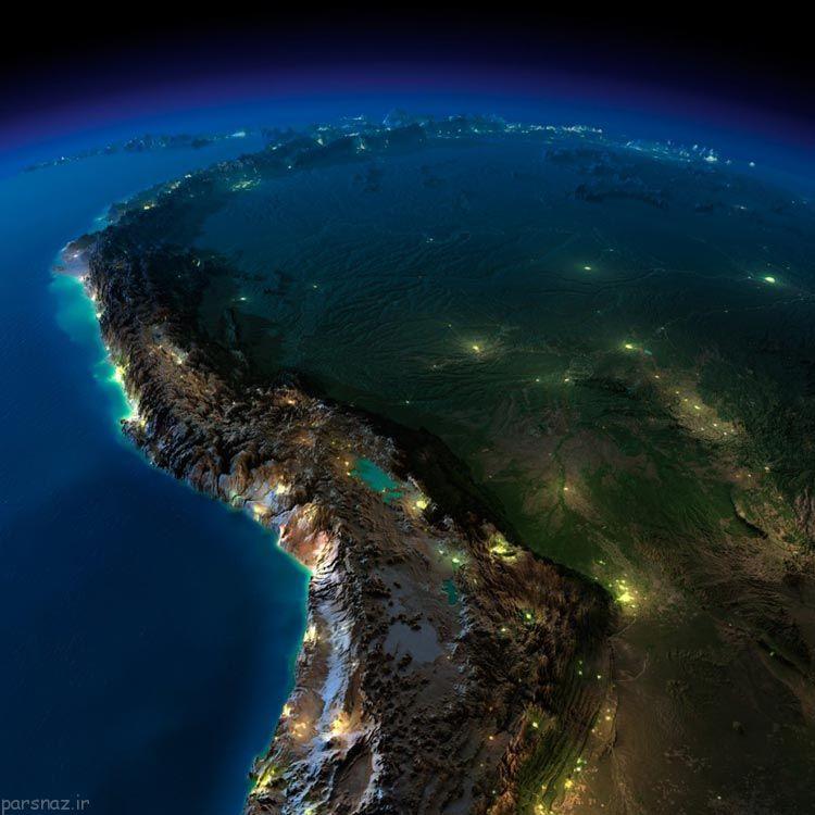 عکس های جذاب از فضای کره زمین در شب
