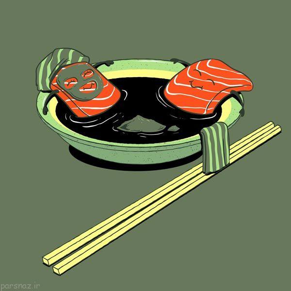عکس های احساسی از زبان خوراکی ها