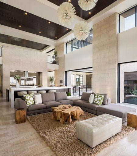 طراحی مدرن و زیبا در اتاق نشیمن