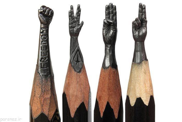 عکس های هنری از مجسمه های مدادی زیبا