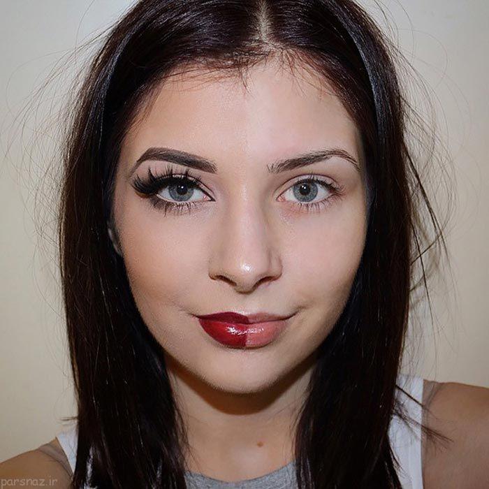 عکس های جالب از مبارزه زنان با آرایش