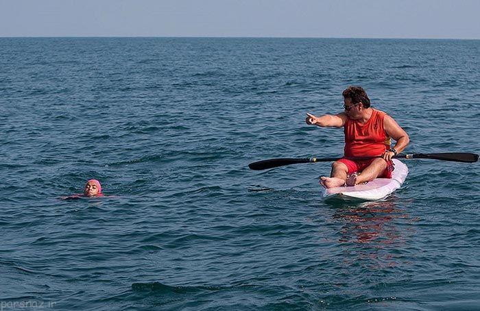 ثبت رکورد جدید دختر شناگر ایرانی در دریای خزر