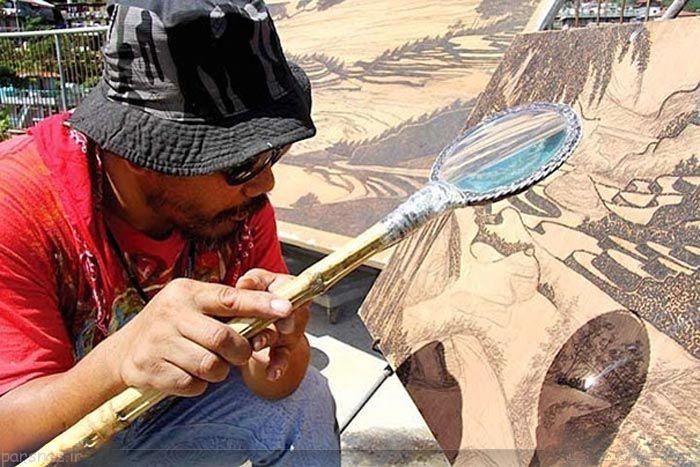 نقاشی های زیبا با استفاده از اشعه خورشید