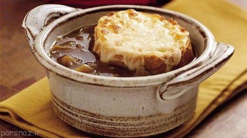 طرز تهیه سوپ پیاز کشور فرانسه