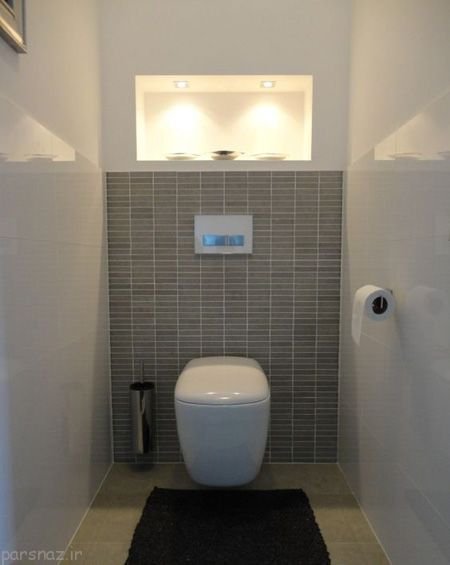 راه حل دکوراسیون سرویس بهداشتی کوچک فلاش تانک توکار