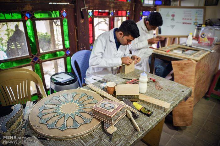 تصاویر خاتم کاری در ایران