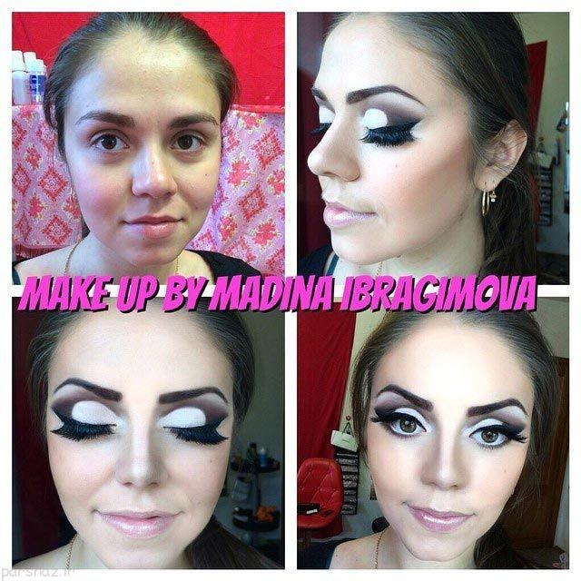 تاثیر فوق العاده آرایش روی صورت دختران +عکس