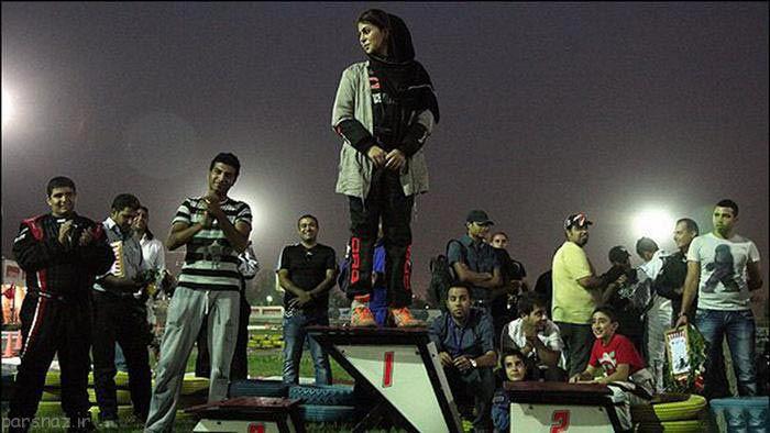 عکس های دختران ایرانی در پیست کارتینگ اتومبیل