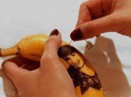 هنرنمایی روی پوست موز و طرح های جالب